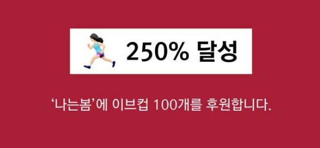 [EVE 의 생리컵 후원 펀딩]250% 달성!!